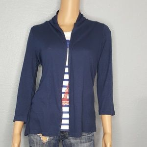 Michael Stars Shawl Neck Cardigan with 3/4 Sleeves